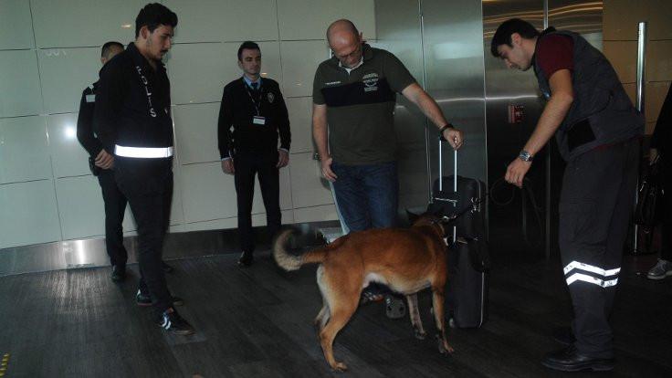 Avusturya'ya gidecek yolcular köpekle arandı