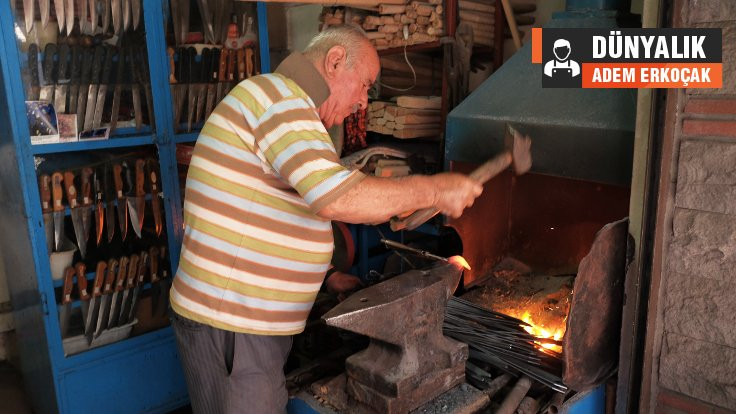 80 yaşında bir demirci ustası