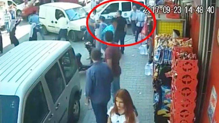 Taşlı, sopalı saldırıyı polis seyretti