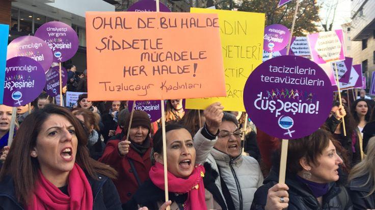 Ankaralı kadınlar şiddete karşı buluştu