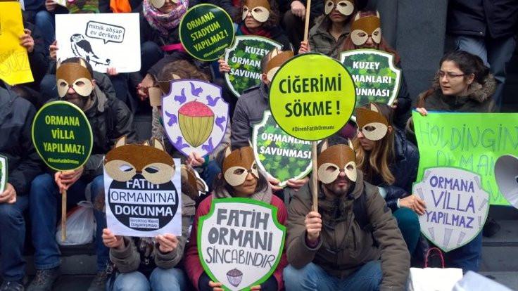 Çevre Şehircilik İl Müdürlüğü Fatih Ormanı projesine ruhsat vermiş