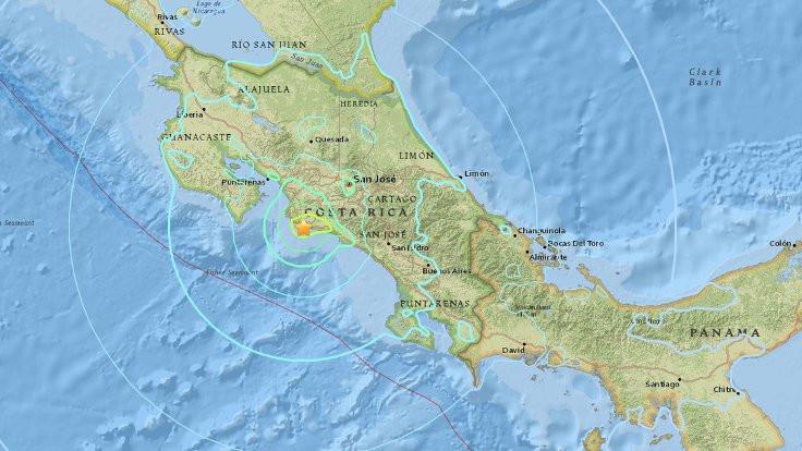 Kosta Rika'da 6.5 büyüklüğünde deprem