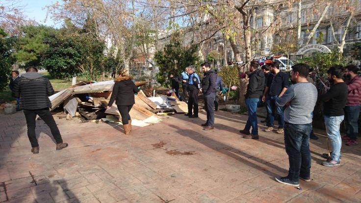 Maçka Parkı'nda iki kafe yıkıldı