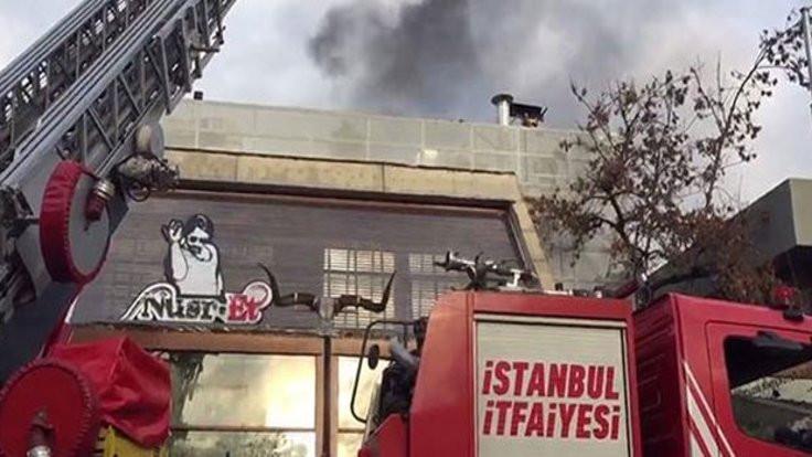 Nusret'te yangın çıktı