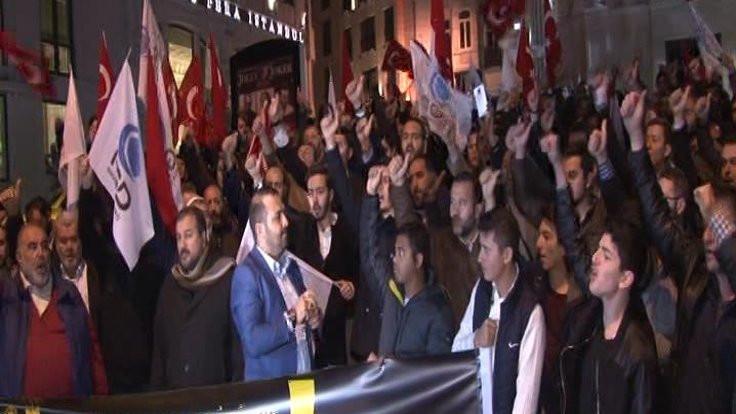 İngiltere konsolosluğu önünde protesto