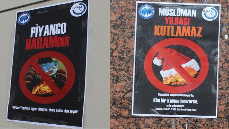Üniversite onaylı afiş: Müslüman yılbaşı kutlamaz