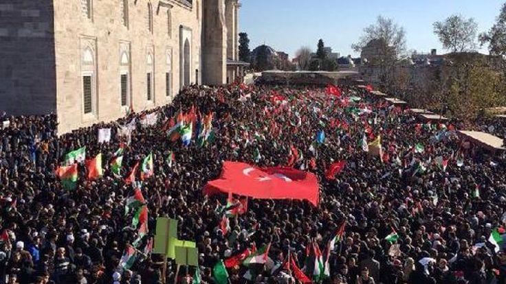 Kudüs'e destek eylemleri yapılıyor