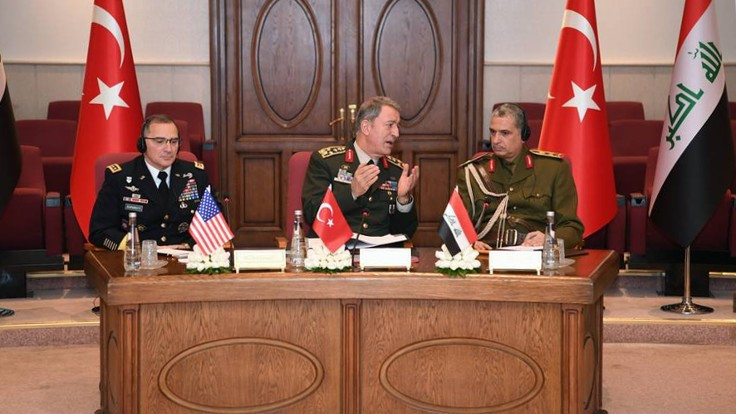 Genelkurmay Başkanlığı'nda üçlü toplantı