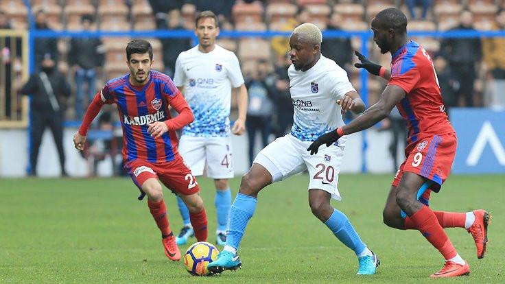 Trabzonspor'un 5 maçlık serisi sona erdi