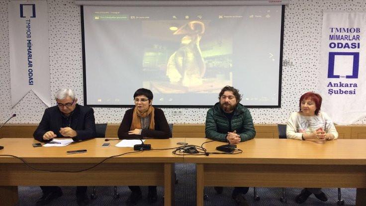 Ankara'da çalınan heykel yeniden yapıldı