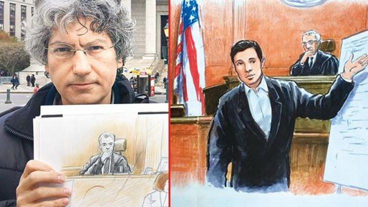 Zarrab davasının çizeri: Turist olarak gelip, davayı izleyenler de var
