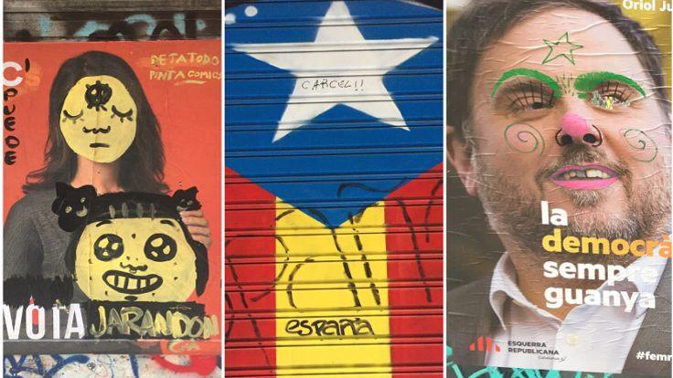 Barcelona duvarlarında kıvrak zeka savaşları!
