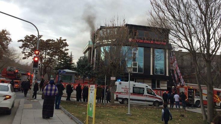 BBP Genel Merkezi'nde yangın çıktı