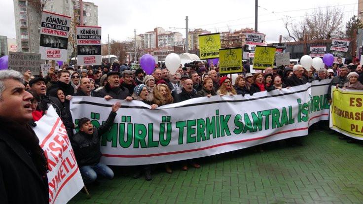Eskişehir'de termik santral protestosu