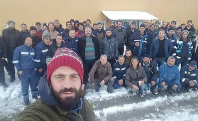 Maden işçilerinden grev