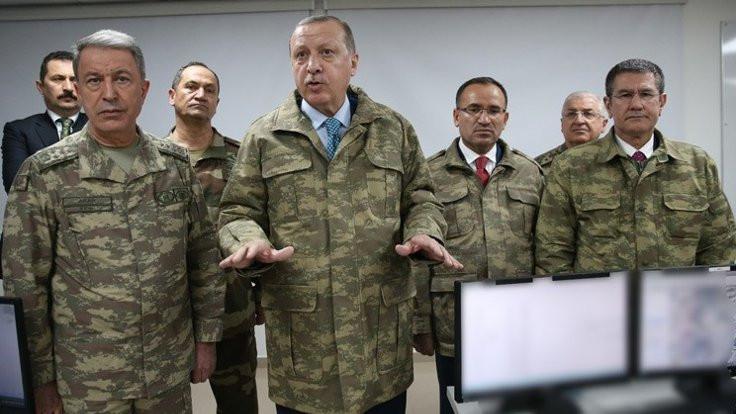 Erdoğan, Afrin harekatı merkezini ziyaret etti
