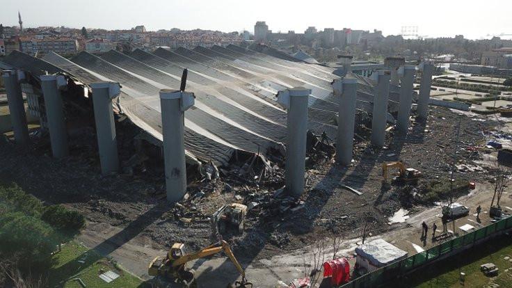Abdi İpekçi Spor Salonu'nun yıkımı durduruldu