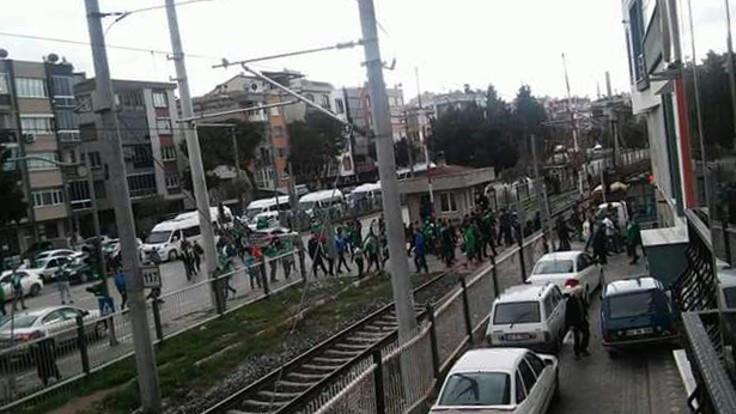 Akhisar ve Bursa taraftarı arasında kavga
