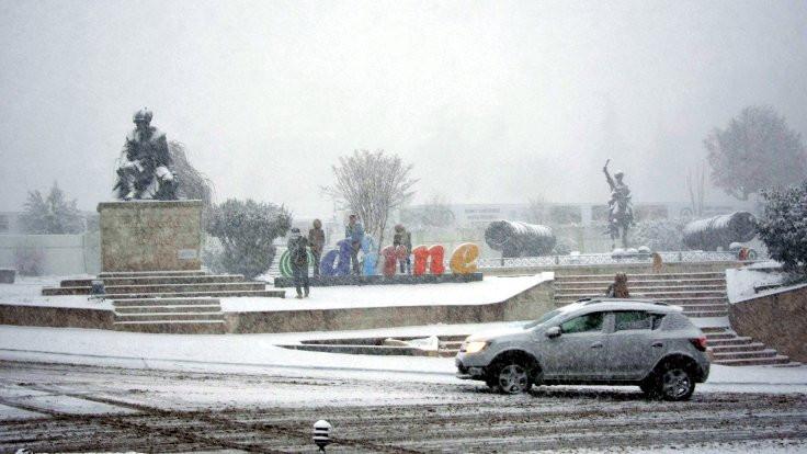 Edirne'de okullar tatil edildi