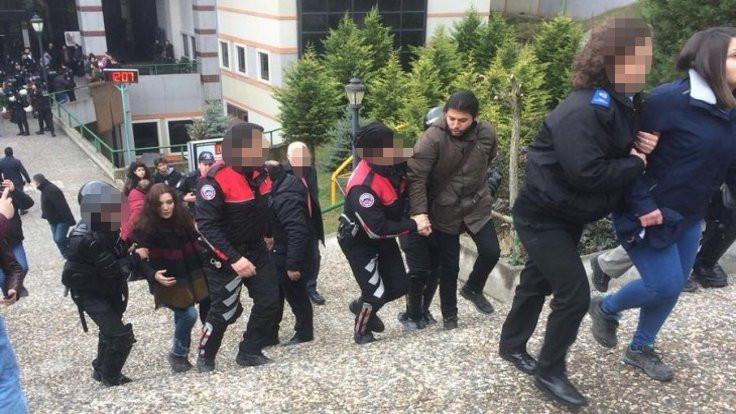 14 öğrenciye gözaltı!