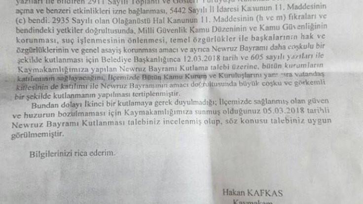 İki ilçede Newroz kutlamalarına yasak