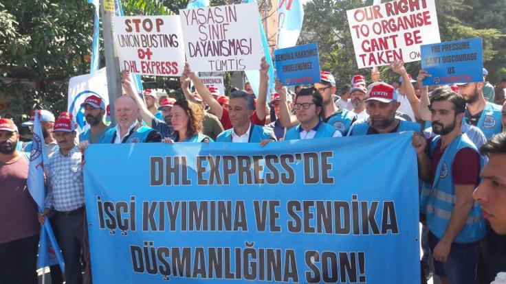 DHL Express direnişine uluslararası destek