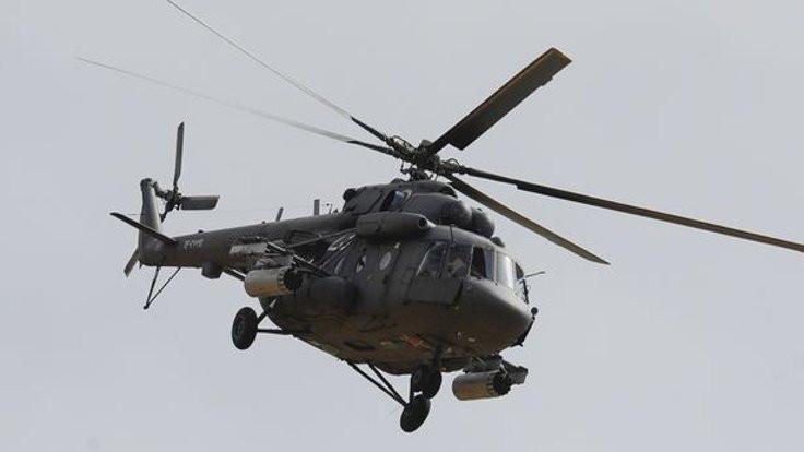 Çeçenistan'da helikopter düştü