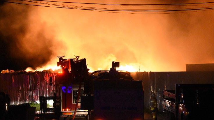 Çanakkale halinde büyük yangın