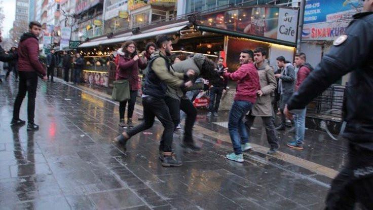 Yüksel Caddesi'ndeki eyleme saldırı