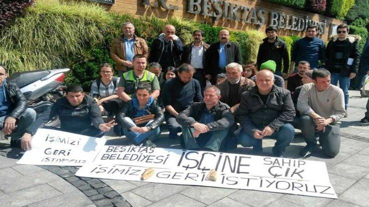 Beşiktaş Belediyesi'nde işçilerden eylem