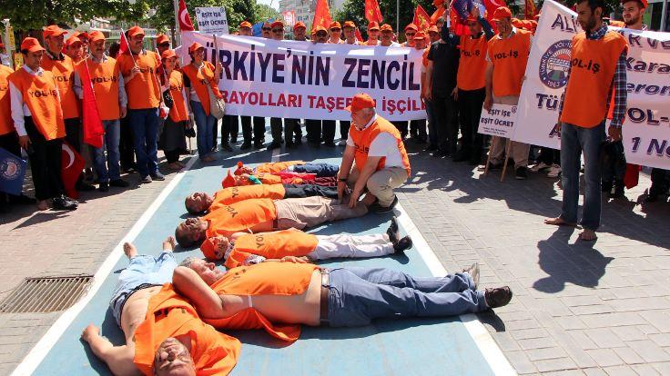 İş cinayetlerini protesto ettiler