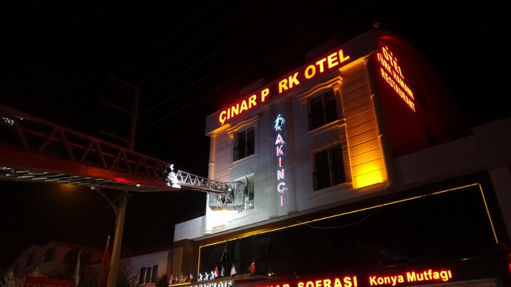 Kocaeli'nde otel hamamında yangın