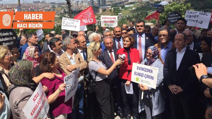 CHP'den kentsel dönüşüm mağdurlarına destek