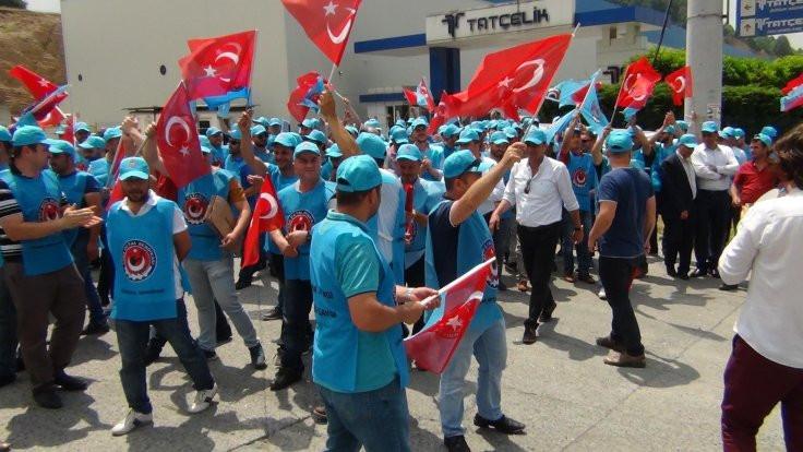 Ereğli'de metal işçileri greve çıktı