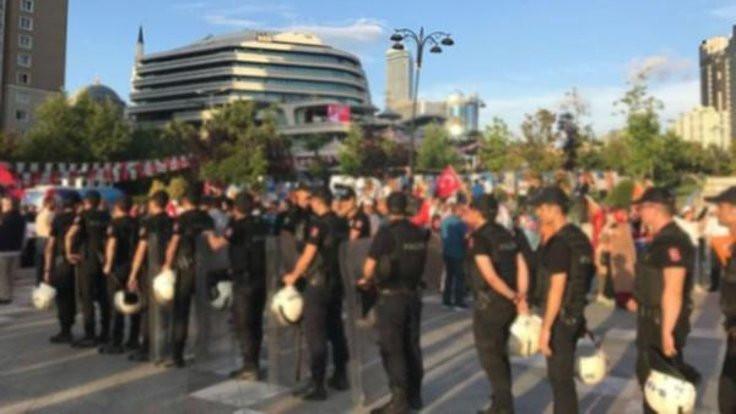 CHP'lilerle AK Partililer arasında arbede