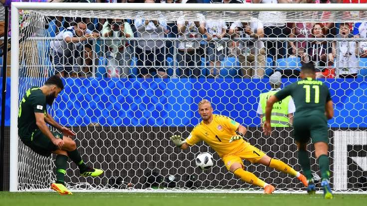 VAR penaltı verdi, Avustralya 1 puanı kurtardı