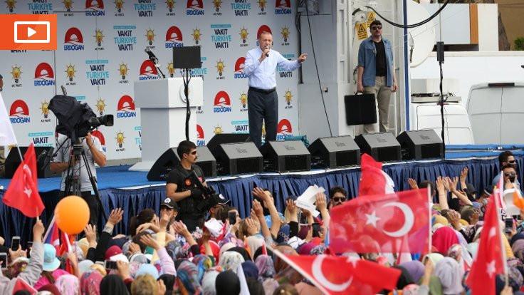 Erdoğan'dan mitinge katılanlara: Ne alakası var?