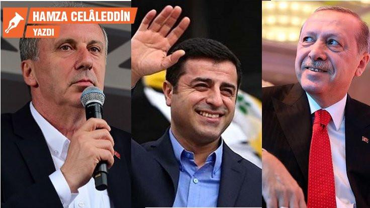 Şair İnce, müellif Demirtaş, prompter Erdoğan