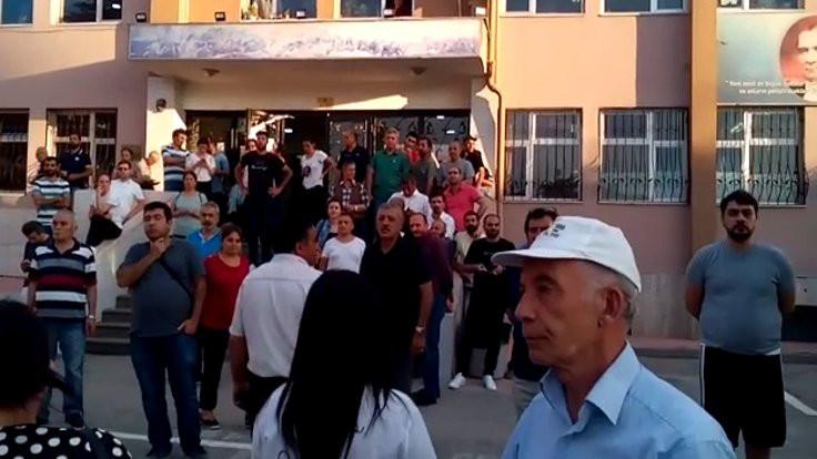 Ankara'daki okulda tutanak gerilimi