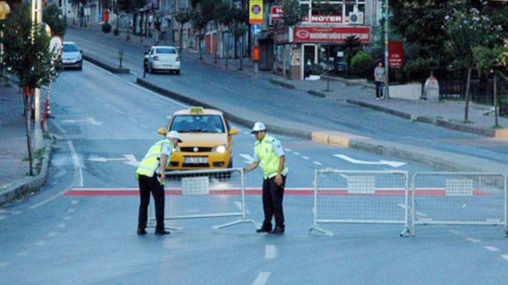 Taksim yollarında 'güvenlik' engeli!