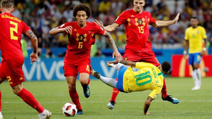 Brezilya veda etti, Belçika yarı finalde