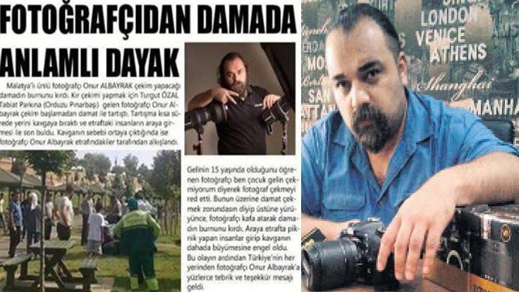 Fotoğrafçı damadı dövdü: Çocuk gelin çekmem!