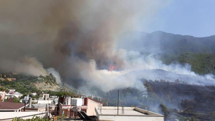 Hatay'da yangın: 5 ev zarar gördü