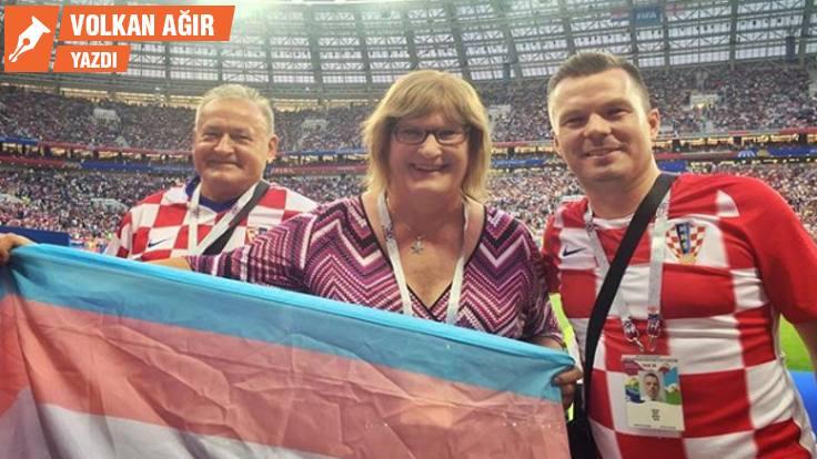 Trans bayrağı Dünya Kupası'nda