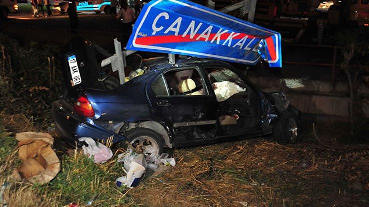 Çanakkale-İzmir karayolunda kaza