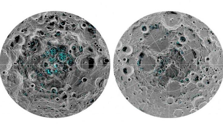 Ay'da buz bulundu