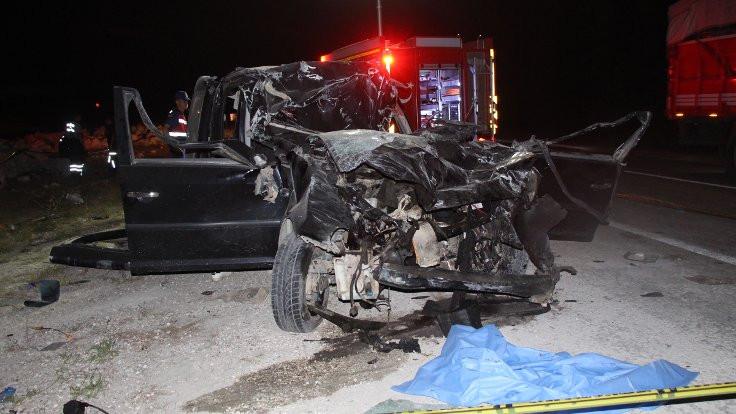 Burdur'da kaza: 2 ölü