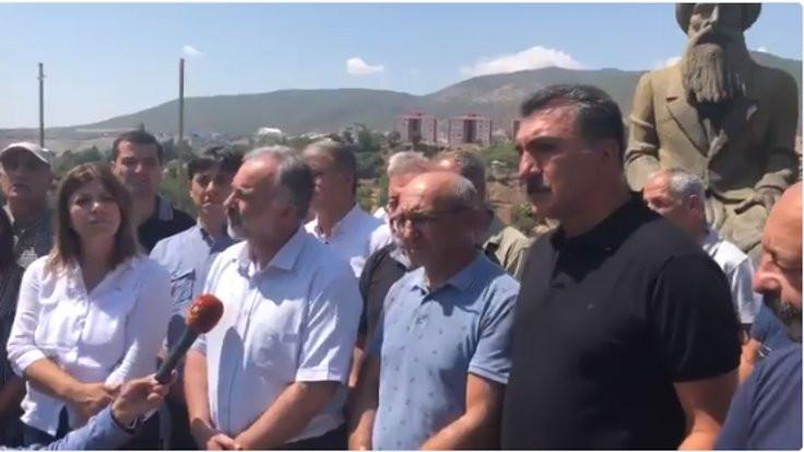 HDP'li vekiller yangın bölgesine alınmadı