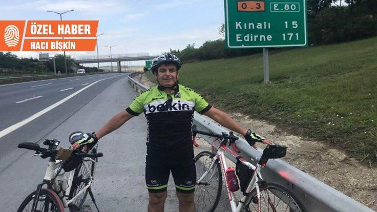 Sınırdan sınıra 'kardeşlik' için pedallayacak!