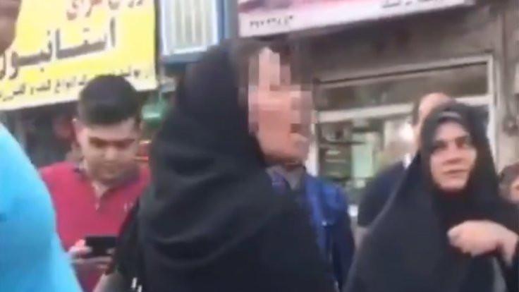 Din adamı tehdit etti kadın hicabını çıkardı